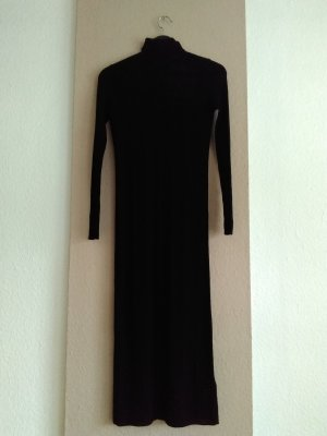 Zara Knitted Dress black wool