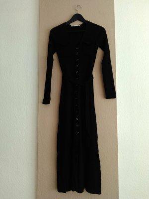 hübsches Midi-Strickkleid in schwarz mit Gürtel, Grösse S, neu