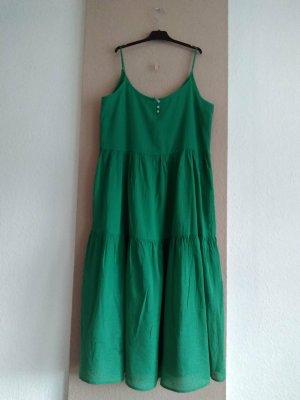 hübsches Midi-Trägerkleid aus Viskose und Baumwolle in grün, Grösse M, neu