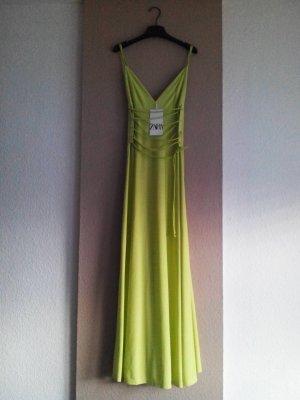 hübsches Midi-Trägerkleid in neongrün, Grösse S, neu