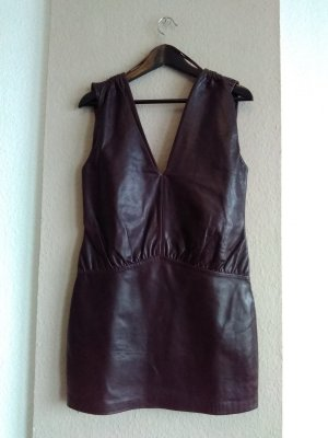 zanzara Leather Dress bordeaux leather