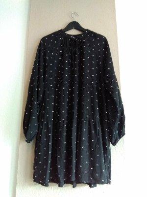 hübsches Minikleid aus 100% Viskose, gepunktet, Größe L, neu