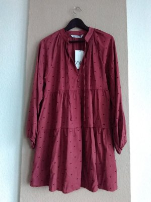 hübsches Minikleid aus 100% Viskose, gepunktet, Größe M, neu