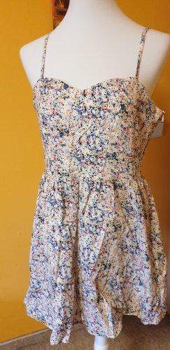 Hübsches Minikleid aus Thailand mit Farbklecks-Muster, US-Größe 12 (ca. 40 DE)