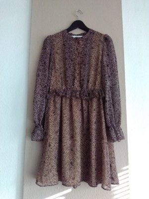 & other stories Mini Dress oatmeal-brown polyester