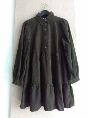 hübsches Minikleid in khaki aus 100% Baumwolle, Kordoptik, Grösse M, neu