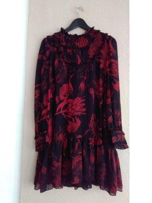 hübsches Minikleid in rot-schwarz, Grösse S, neu