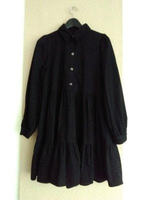 hübsches Minikleid in schwarz aus 100% Baumwolle, Jeansoptik, Grösse L, neu