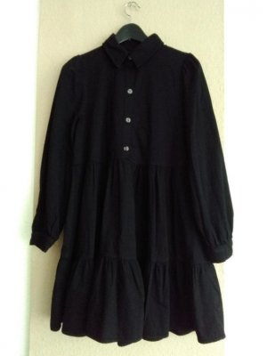 hübsches Minikleid in schwarz aus 100% Baumwolle, Jeansoptik, Grösse M, neu