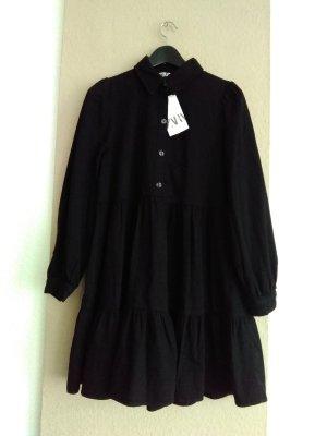 Zara Denim Dress black-silver-colored cotton