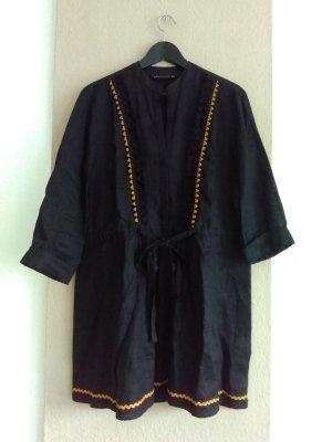 hübsches Minikleid in schwarz aus Leinen, Grösse M