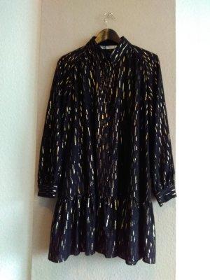 hübsches Minikleid in schwarz-gold, Grösse L, neu