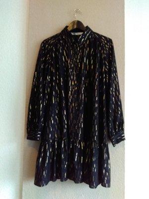 hübsches Minikleid in schwarz-gold, Grösse M oversize, neu