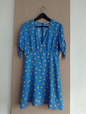 hübsches Minikleid mit Ananas-Print aus Viskose, Größe M, neu
