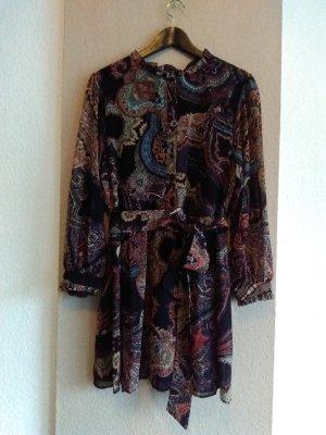 hübsches Minikleid mit Gürtel, Paisley Print, Grösse L, neu