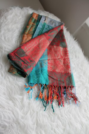 Pashmina Bufanda de seda multicolor