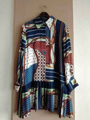 hübsches plissiertes Minikleid mit Kettenprint, Grösse XL, neu