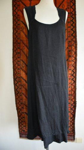 Hübsches, schwarzes Leinen Kleid Gr. L