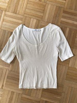 0039 Italy Ribbed Shirt natural white