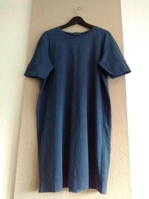 Zara Sukienka o kroju koszulki morski Bawełna