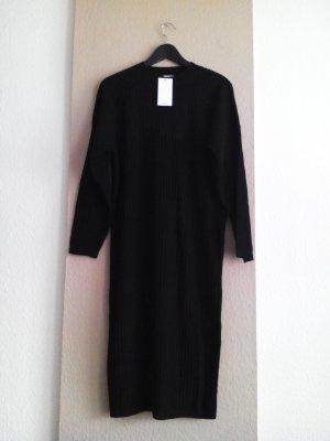 hübsches Strick-Midikleid in schwarz, Grösse M oversize, neu