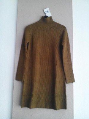 hübsches Strickkleid/Long Pullover in olivengrün, Grösse L, neu