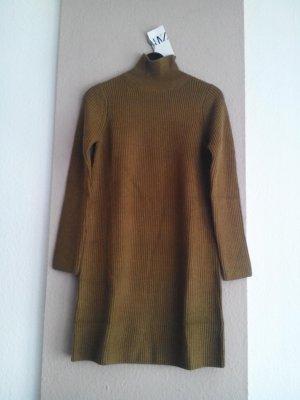 hübsches Strickkleid/Long Pullover in olivengrün, Grösse M, neu