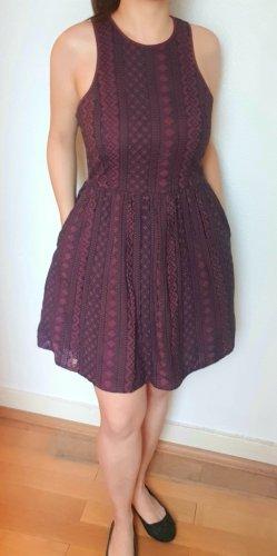 Superdry Sukienka typu babydoll czarny-bordo