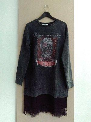 hübsches Sweatshirt-Kleid aus Baumwolle, Grösse M oversize