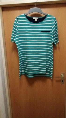 Hübsches T-Shirt grün-weiß gestreift von Sheego/Janet + Joce