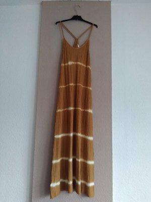 Mango Sukienka na ramiączkach piaskowy brąz-w kolorze białej wełny Wiskoza