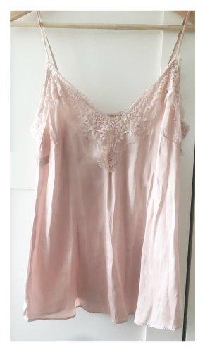 H&M Lace Top pink-dusky pink