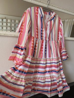 0039 Italy Blusa a tunica multicolore