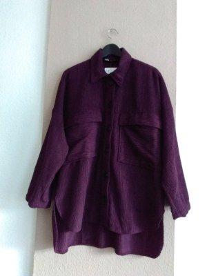hübsches Überhemd /oversize Jacke in lila Kordoptik, Grösse M, neu