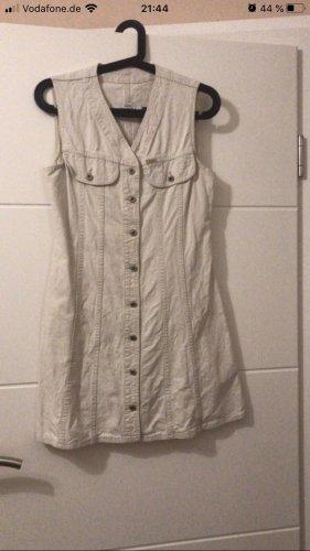 Robe en jean crème-blanc cassé