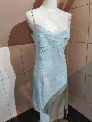 Hübsches Xanaka Kleid V-Ausschnitt Spaghettiträger Midikleid Hellblau - Türkis