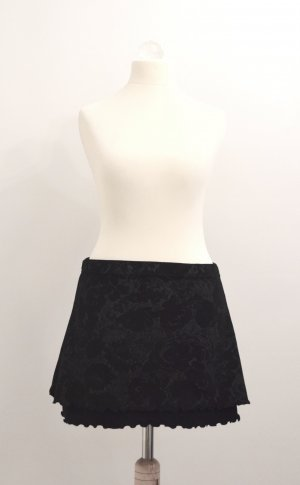 Orsay Mini rok zwart-lichtgrijs