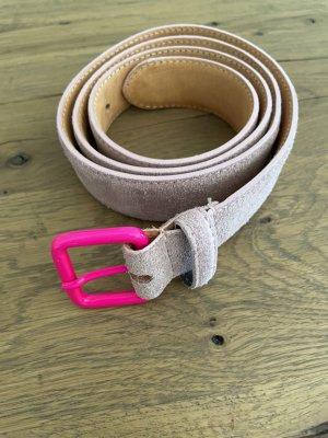Hüftgold Cinturón de cuero rosa Cuero