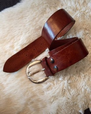 Hüftgold Leather Belt brown-brown red