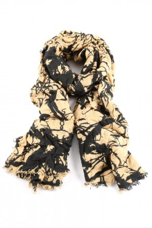 Hüftgold Bufanda de flecos nude-negro Mezcla de patrones look casual