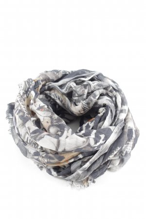 Hüftgold Neckerchief light grey-white abstract pattern casual look