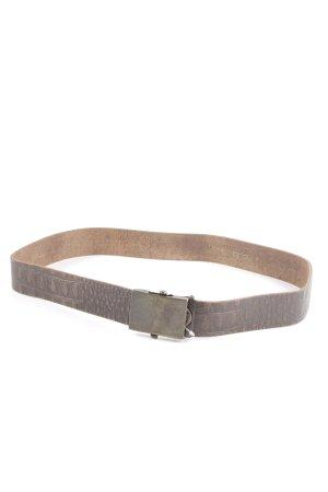 Hüftgold Cinturón de cadera marrón estampado de animales estilo extravagante