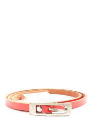 Hüftgold Cinturón de cuero rojo look casual