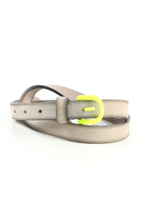 Hüftgold Leather Belt light grey-primrose casual look
