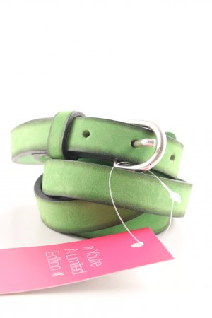 Hüftgold Ledergürtel grün Casual-Look