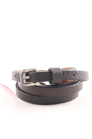 Hüftgold Cintura di pelle marrone stile casual