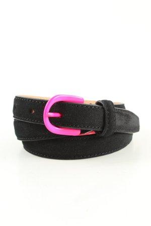 Hüftgold Cintura di pelle nero-rosa stile casual