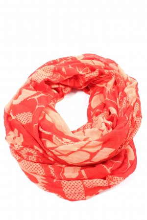 Hüftgold Écharpe tube rouge-blanc cassé imprimé allover style décontracté