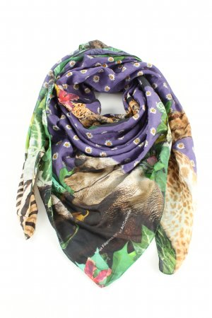 Hüftgold Shoulder Scarf lilac-natural white allover print casual look