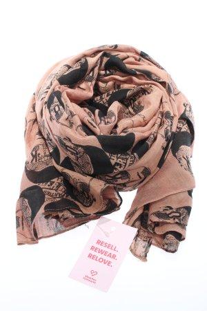 Hüftgold Écharpe d'été rose chair-noir imprimé allover